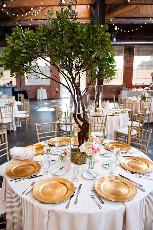A table setting at The Foundry at Puritan Mill
